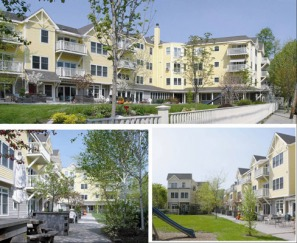 Cambridge Cohousing --montage from buildingindustry.org